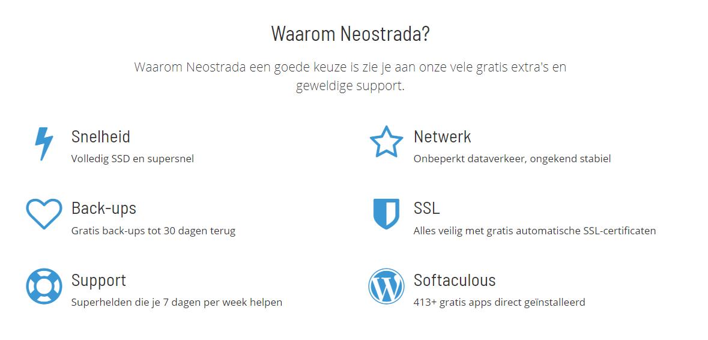 Neostrada hosting ervaringen