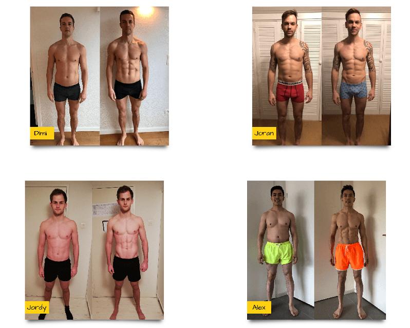 droog trainen protocol mannen resultaten