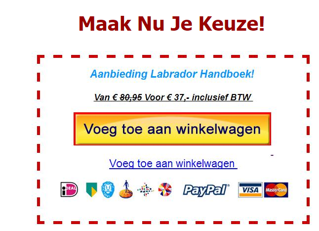 labrador handboek kortingscode